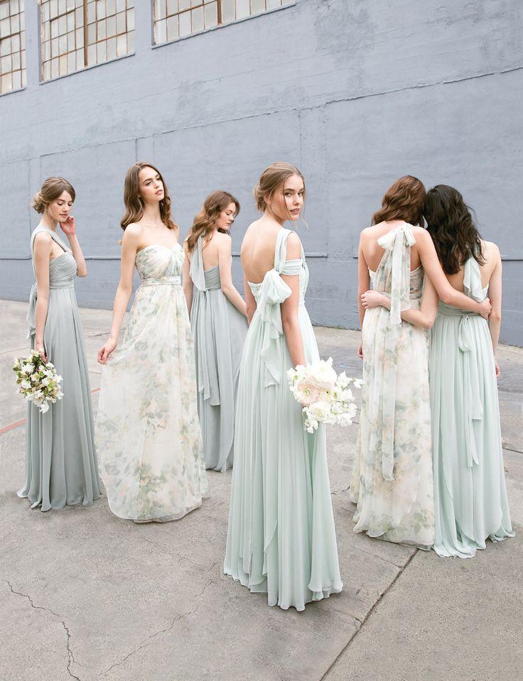 Convertible Floral Printed Mix and Match Bridesmaids