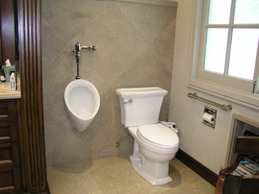 Bathroom with Urinal. Great for the grandsons.