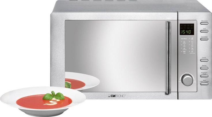 Clatronic MWG 775 H/ Mikrowelle mit Grill und Heißluft / 23 Liter / Edelstahlgehäuse: Amazon.de: Elektro-Großgeräte