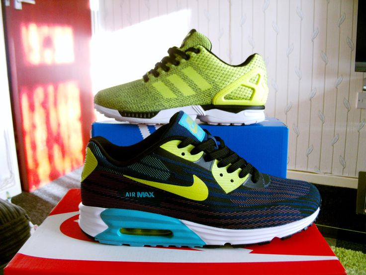 Nike Air Max Lunar 90 JCRD/Adidas ZX Flux Weave - YouTube