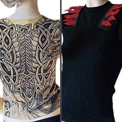 Per questo Natale vestiti di tattoo! Magliette dall'effetto realistico grazie al tessuto 100% nylon elastico color carne!