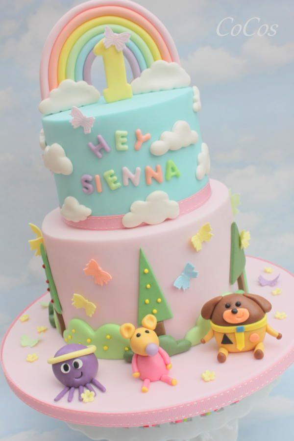Hey Duggee themed 1st birthday cake by Lynette Brandl