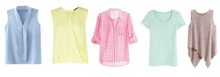 Светлые оттенки (топы, блузы, рубашки, футболки, белье, сорочки)  Идеально подойдут все холодные пастельные оттенки + необходим обязательный средний контраст в портретной зоне.