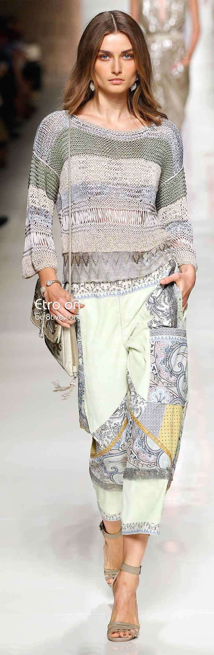Etro Spring 2014 Collection. Boho chic a la Etro, spot on...#bohochic#etro#paisley