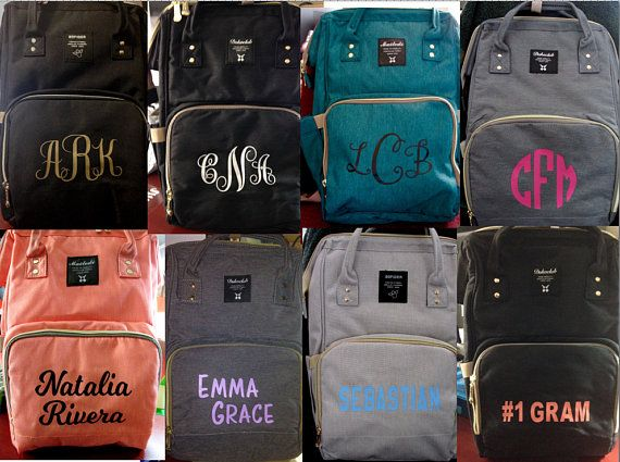 Diaper Bag Backpack Personalized For