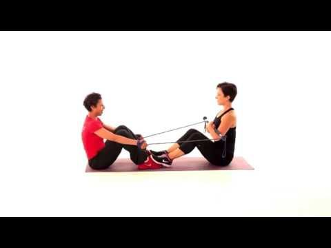 Gymstick Australia pairs trio - try this with a friend to really challenge your core fitness