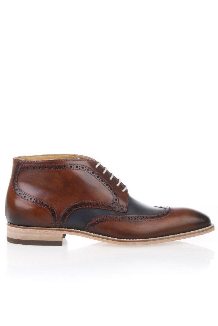 Giorgio 1958 schoenen - 47958 Cognac-Combinatie broque boot