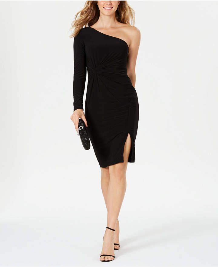 Vince Camuto One-Shoulder Knot-Waist Dress 5