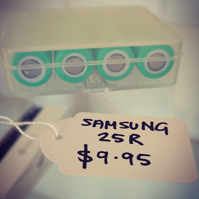 Samsung 25R Batteries back in stock @vaporaecigs for only $9.95 each! #aussievapers