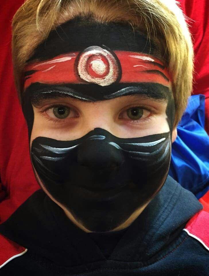 Christina Kerr Davison ninja face paint design