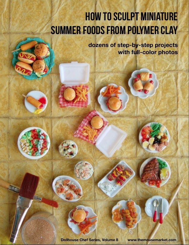 polymer clay food charms | ... Foods from Polymer Clay (Dollhouse, Food Jewelry Tutorial eBook