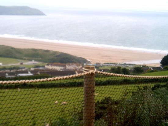 A view from the beach from the hills