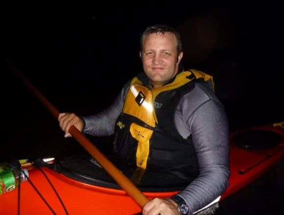 Paddling the Hawkesbury At Midnight