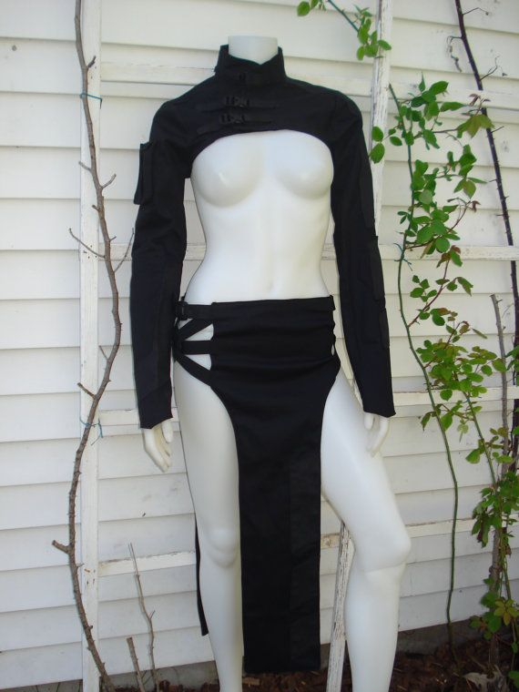 INSPIRATION: THE GLITCH LOIN Skirt Futuristic Cyber by RoboticKittyFashions, $70.00
