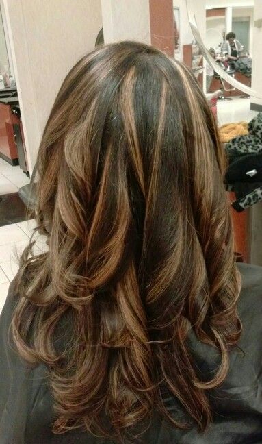 Brunette With Copper Highlights Highlights Pinterest