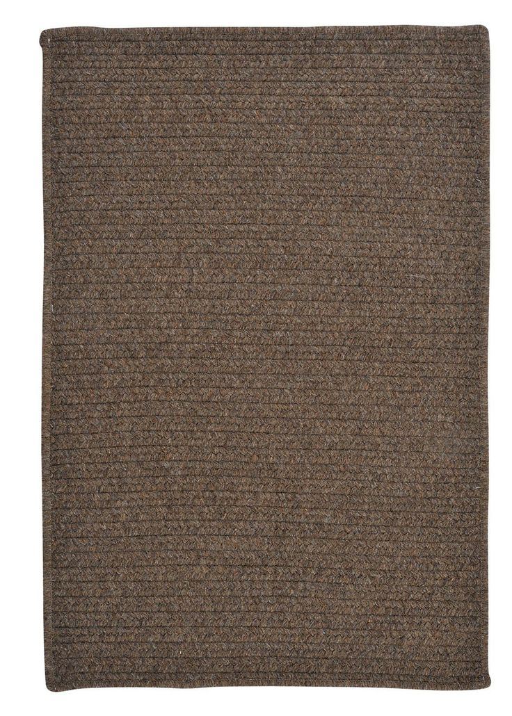 Simplicity Speaks In This Solid Color Flat Braid Rectangular Area Rug Wool Blend Yarns Comforting Hues Well With Any Decor