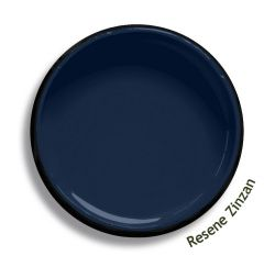 Resene Zinzan is an iconic deep blue, strong and robust. Try Resene Zinzan with bold reds, mid-toned jades or yellow oranges, such as Resene Wanted, Resene Leap Year or Resene Malarkey. From the Resene The Range fashion colours 18. Latest trends available from www.resene.com/range18. Try a Resene testpot or view a physical sample at your Resene ColorShop or Reseller before making your final colour choice.
