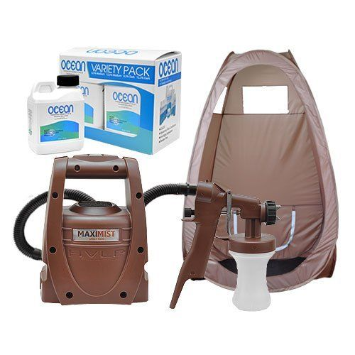 Maxi-Mist Sunless Spray Mate Tanning KIT + TENT Machine Airbrush Tan Air Brush by MaxiMist. Save 29 Off!. $225.10. Whether  you are a seasoned professional, pursuing a new side business, or just want to  bring your tanning costs under control, we have the sunless tanning spray kit  that will allow you to get started right away. Oh and not only are these  products top-of-the-line, but they are also affordable, so you get to enjoy  premium results without tearing a hole in your pocket.   ...