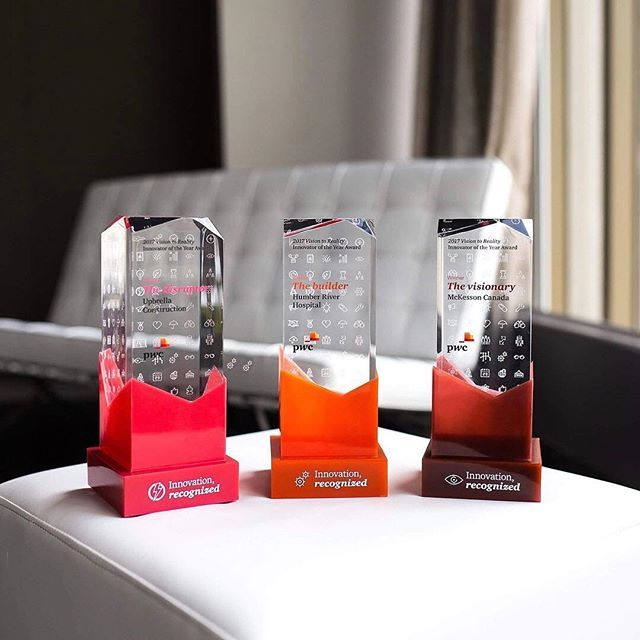The @mlb aren't the only ones lighting up the bases! Check out these awards we did for @pwc_ca_careers - the bases are Twitter-interactive LEDs, which light up. 💡 Light up base design and 📸 by @patioinc. .  .  .  .  .  #clearmount #lucite #acrylic #madeincanada #clearmountinthewild #torontomade #investinquality #brandinglastingimpressions #customawards #awards #recognition