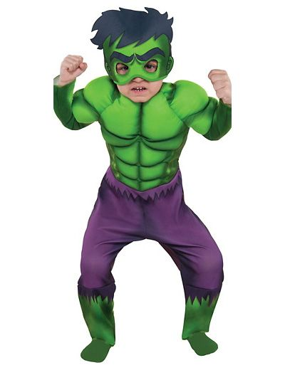Costume per Halloween da Hulk