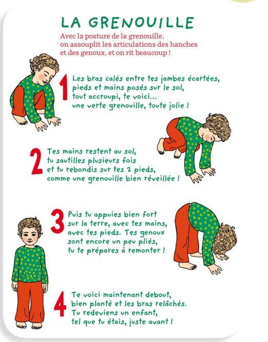 Yoga des petits Grenouille