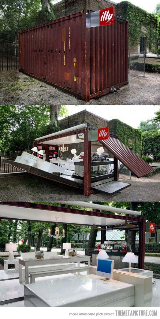 Coffee shop in a box…I'm going to be needing this in my front yard. Today, please.