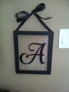 Cute idea - could probably do this with a dollar store frame, backing removed, paint on glass... who needs a silhouette!