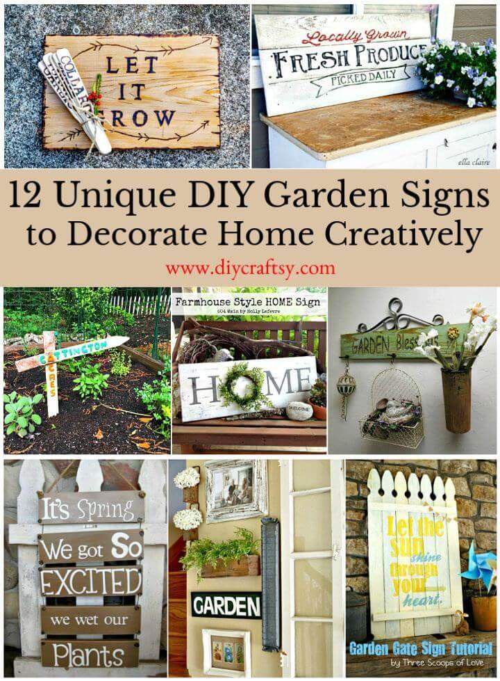 12 Unique Diy Garden Signs To Decorate Home Creatively Garden