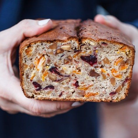 This fruit and nut Stollen bread is inspired by a traditional German Stollen recipe but it is gluten-free and much easier to make and bake.