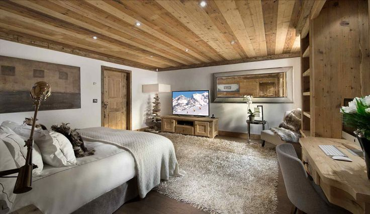 Chalet Pearl, chambre maison madrier