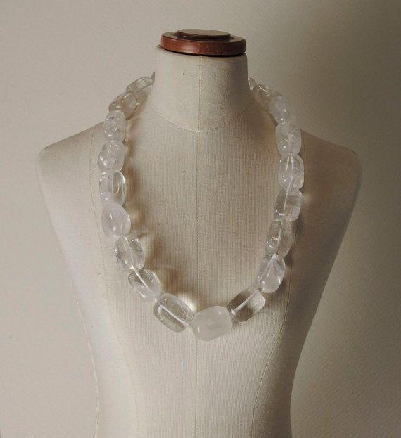 Quartz and 925% Silver necklace