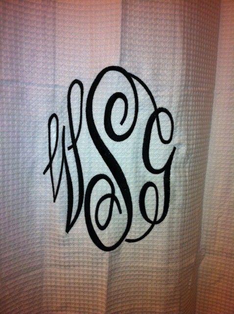 Best 20 Monogram shower curtains ideas on Pinterestno