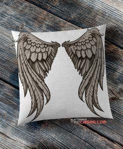 Angel Wings White pillow case, Custom Pillow case, Square Rectangle pillows case