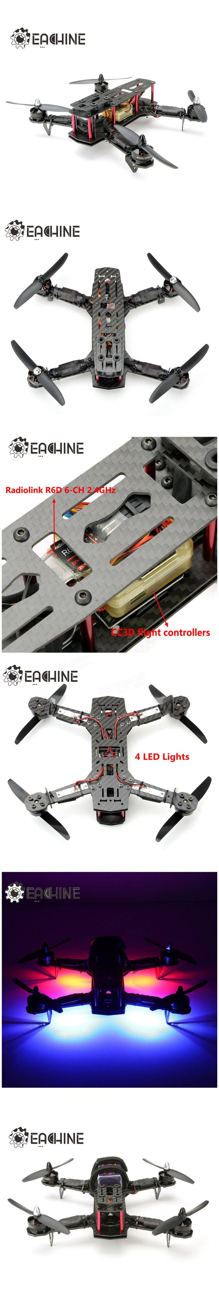 Eachine EC250 Racer Drone With RadioLink 2.4G 9CH AT9 Transmitter R6D CC3D RTF Sale-Banggood.com