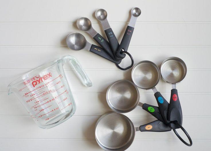 Prato Pra um - Além de panelas e formas o utensílio que para mim é indispensável na cozinha são os medidores. Aqui eu fiz uma lista de medidores que são os mais úteis .