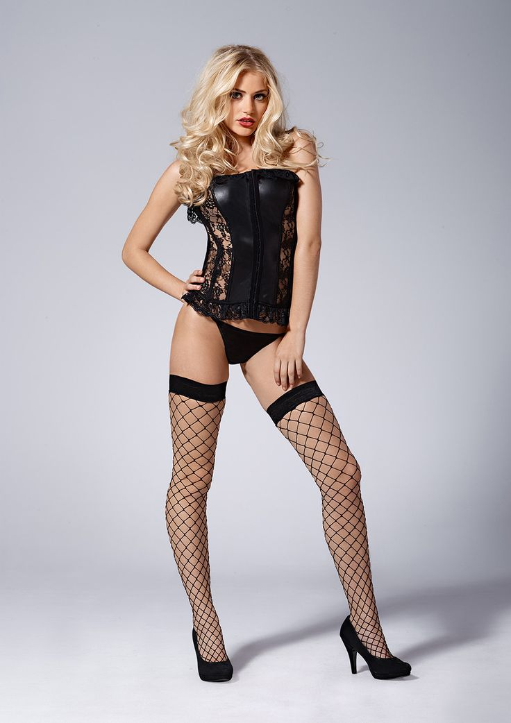 Kiss Me Black Beauty Lace Corset Set £33.99 This imitation leather corset comprises of quality black lace and tulle detailing, with eight boning supports to flatter your figure.  Wear out to the club or in the bedroom - both will make an impression.  www.townoftoys.co.uk