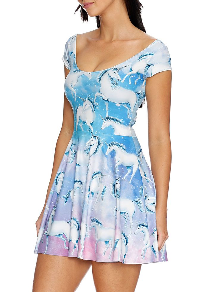 In Your Dreams Cap Sleeve Skater Dress - 48HR / LIMITED (AU $90AUD / US $65USD), by Black Milk Clothing