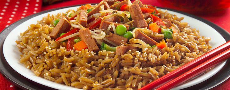 Corona de arroz con Jamoneta y Verduras Zenú