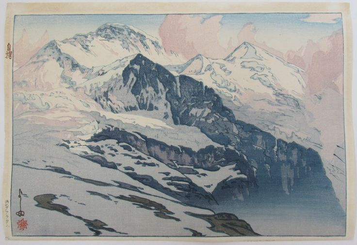 "Hiroshi Yoshida ""Jungfrau"" – Bassett Fine Prints"
