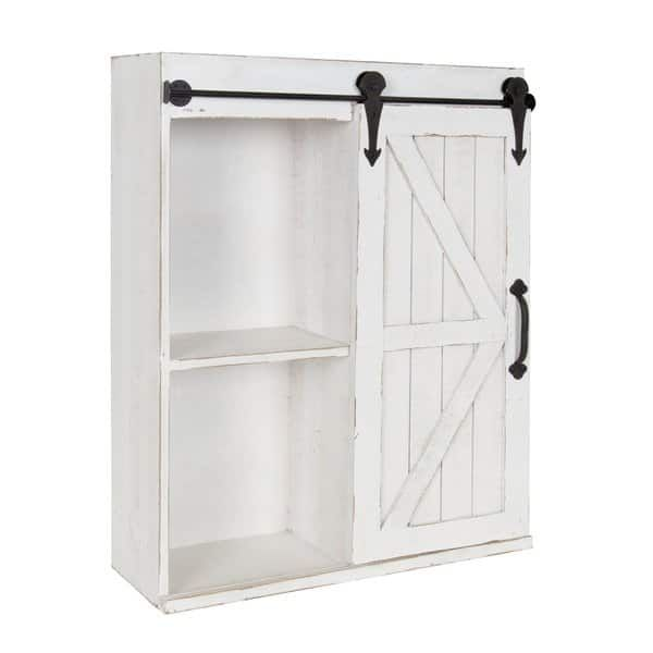 Kate And Laurel Cates Wood Wall Storage Cabinet With Sliding Barn Door Wall Storage Cabinets Wall Mounted Cabinet Wall Storage
