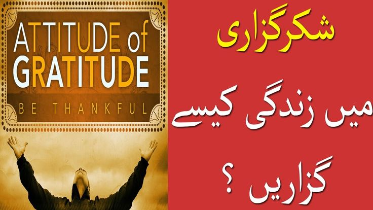 Gratitude (Shukar Guzari) in Urdu/Hindi By Maham Bano I Life Skills TV