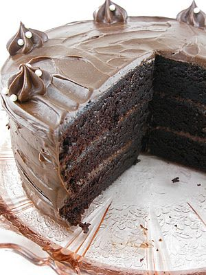 Chocolate espresso layer cake with mocha mascarpone buttercream