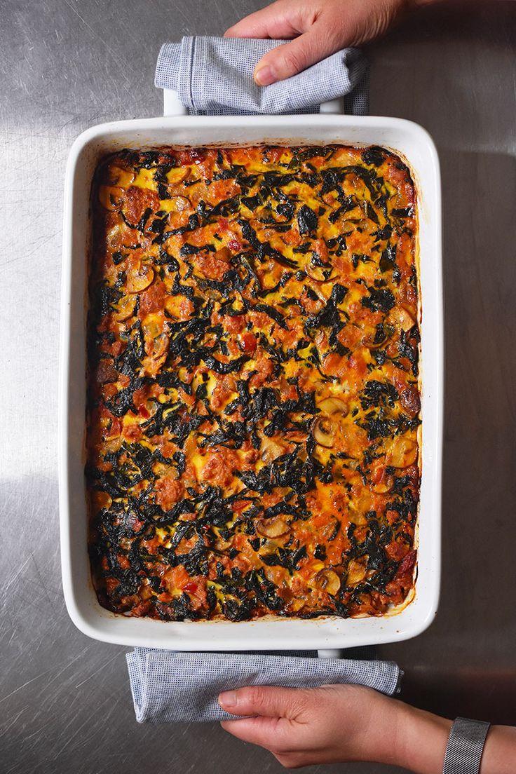 Italian Sausage   Kale Casserole