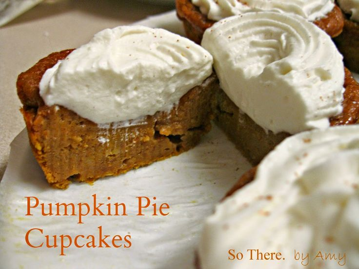 This Pumpkin Pie Cupcake recipe has been floating around Pinterest for awhile…