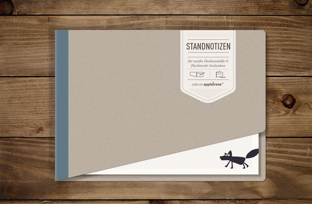 #Notizblock 'STANDNOTIZ' - blau.