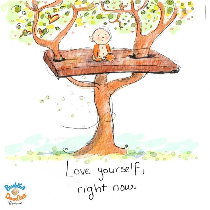 Love yourself, right now - Buddha Doodles