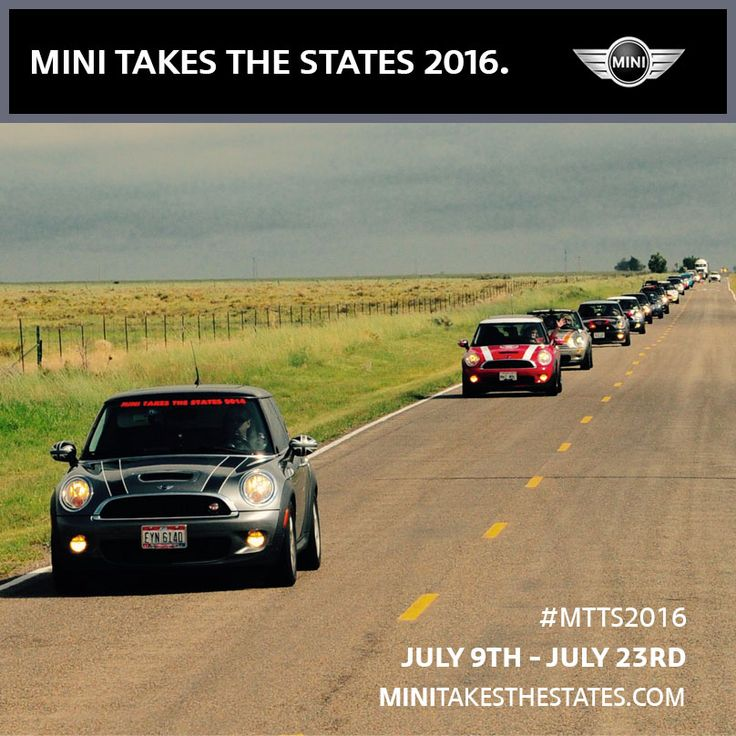 I'm in! Get ready to rally! MINI TAKES THE STATES returns in 2016. Save the date: July 9-23. #MTTS2016