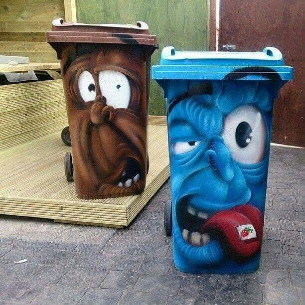 70 best images about creative trash cans on pinterest for Creative art from waste