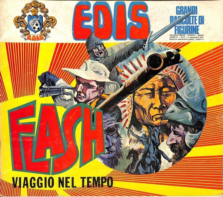 Album figurine EDIS vuoto FLASH VIAGGIO NEL TEMPO, 1971
