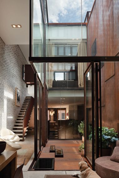 inverted warehouse townhouse by dean / wolf architects